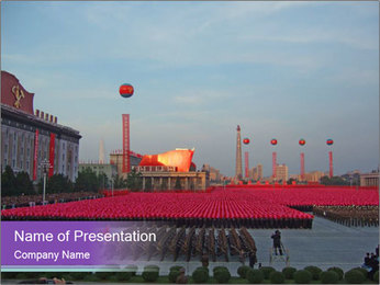 Trip to North Korea PowerPoint Template