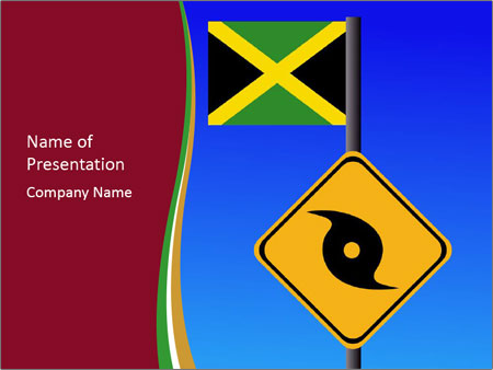 Road sign and flag of jamaica powerpoint template backgrounds id road sign and flag of jamaica powerpoint template toneelgroepblik Gallery