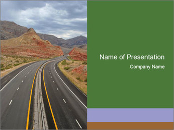 Motorway Road PowerPoint Template