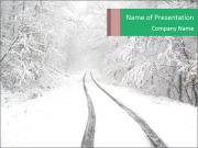 Snowy Road PowerPoint Templates