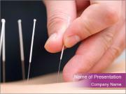 Acupuncturist Working with Cient PowerPoint Templates