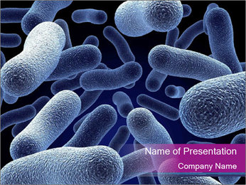 Blue Microbes PowerPoint Template