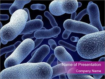 Blue Microbes Modèles des présentations  PowerPoint - Diapositives 1