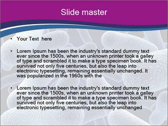Blue Microbes Modèles des présentations  PowerPoint - Diapositives 2