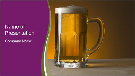 big glass of cold beer powerpoint template backgrounds google