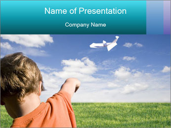 Boy Watching Clouds Plantillas de Presentaciones PowerPoint
