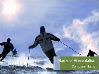 Dangerous Ski Ride PowerPoint Template
