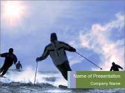 Dangerous Ski Ride PowerPoint Templates