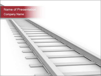 White Railway PowerPoint Template