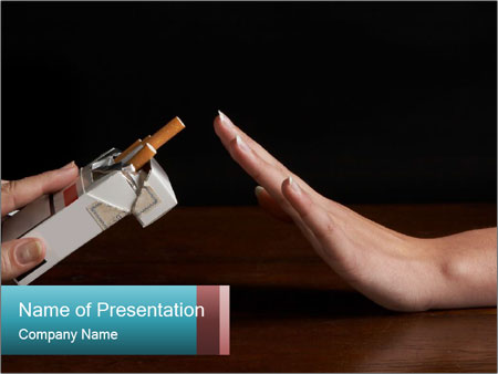 Refusal To Smoke Powerpoint Template Backgrounds Google Slides