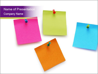 Office Paper Sticks PowerPoint Template