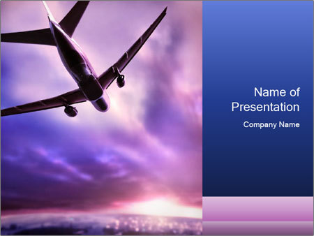 88 aviation powerpoint templates aircraft powerpoint templates aircraft in lilac sky powerpoint template backgrounds id toneelgroepblik Gallery