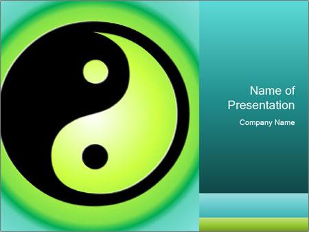 Green and black yin yang symbol powerpoint template backgrounds green and black yin yang symbol powerpoint templates toneelgroepblik Gallery