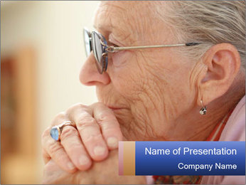 Very Old Lady PowerPoint Template