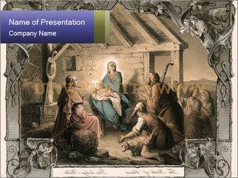 Christmas Scene PowerPoint Template