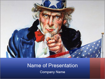 American Symbol PowerPoint Template