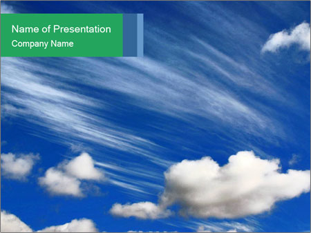 Cotton Clouds Powerpoint Template Backgrounds Google Slides Id
