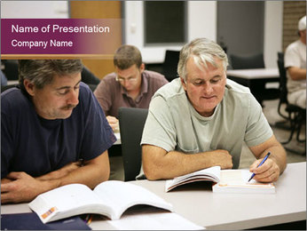 Adult Students PowerPoint Template
