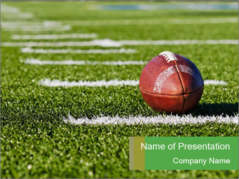 American Football Competition PowerPoint Template