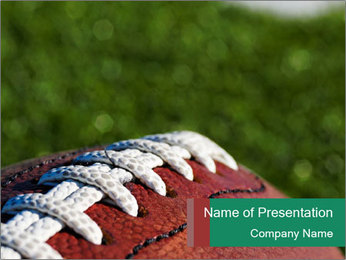 New Ball for American Football PowerPoint Template