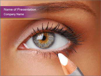 White Eye Pencil PowerPoint Template