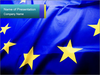 EU National Flag PowerPoint Template