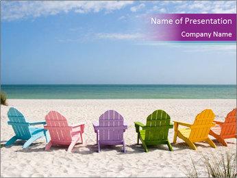 Beach in Florida PowerPoint Template