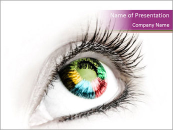 Multicolored Eye PowerPoint Template
