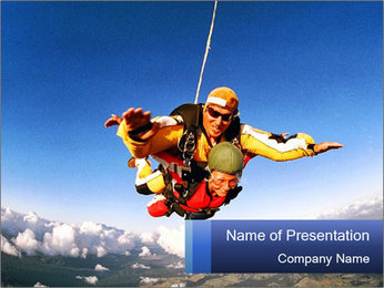 Couple Skydiving PowerPoint Template