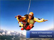 Couple Skydiving PowerPoint Templates
