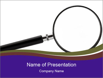 Magnifying Instrument PowerPoint Template
