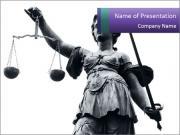 Femida Statue PowerPoint Templates