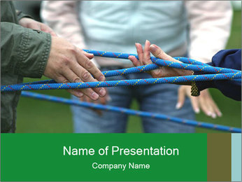 Children Playing with Rope PowerPoint Template
