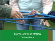 Children Playing with Rope PowerPoint Templates
