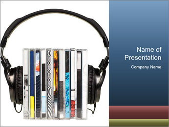 Listen to Audio Books PowerPoint Template