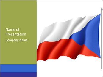 Waving Flag of Czech Republic PowerPoint Template