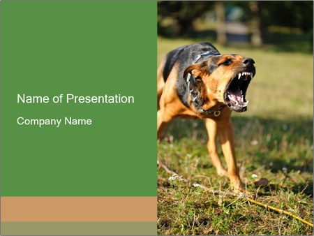 Angry Dog Powerpoint Template Backgrounds Google Slides Id