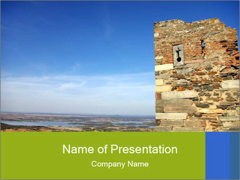 Ruins of Old Castle PowerPoint Template