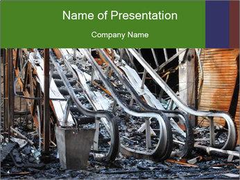 Destroyed Theatre in Thailand PowerPoint Template
