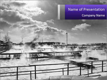 Big Water Station PowerPoint Template