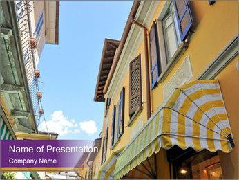 Narrow European Street PowerPoint Template