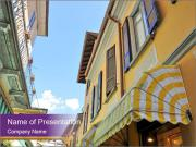 Narrow European Street PowerPoint Templates