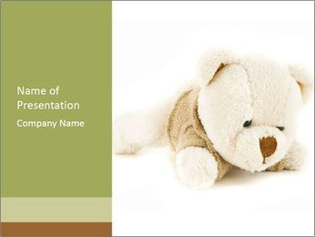 Beige Teddy Bear PowerPoint Template