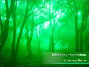 Green Mystic Forest PowerPoint Templates