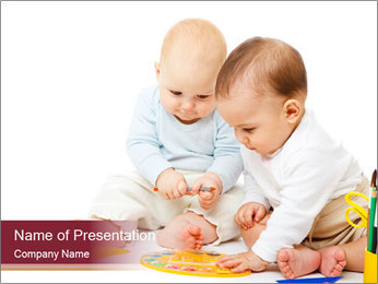 Creative Babies PowerPoint Template