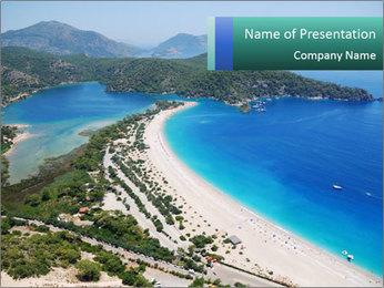 Impressive Blue Lagoon PowerPoint Template