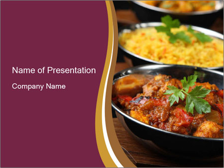 Traditional Indian Cuisine Powerpoint Template Backgrounds Google