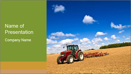farming tractor powerpoint template backgrounds google slides