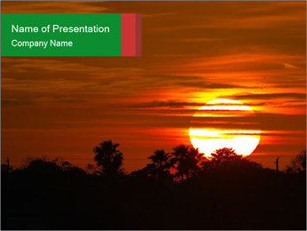 Sunrise in Florida PowerPoint Template