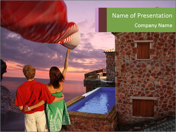 Love Couple in Hotel PowerPoint Template
